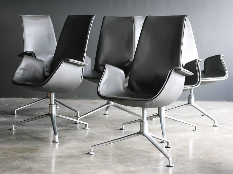 FK 6725 Conference Chairs by Preben Fabricius & Jørgen Kastholm In Excellent Condition For Sale In Dronten, NL