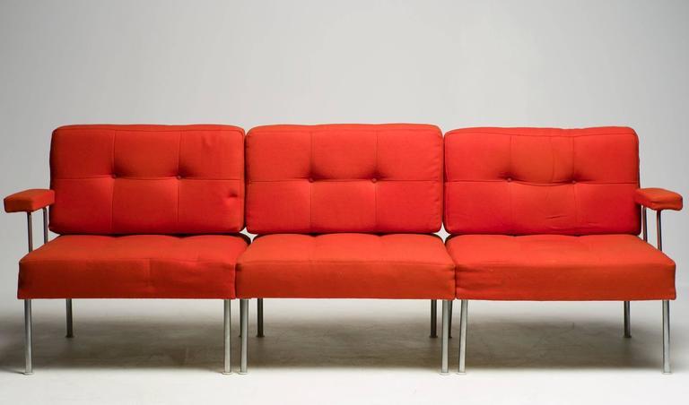 poul cadovius steel frame sectional sofa for france u0026 son 3