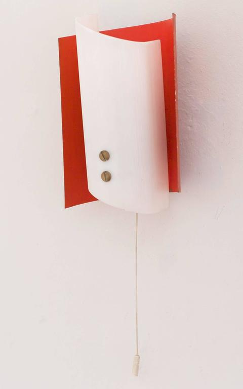 Contemporary Italian Wall Sconces : Pair of Mid-Century Modern Italian Sconces For Sale at 1stdibs