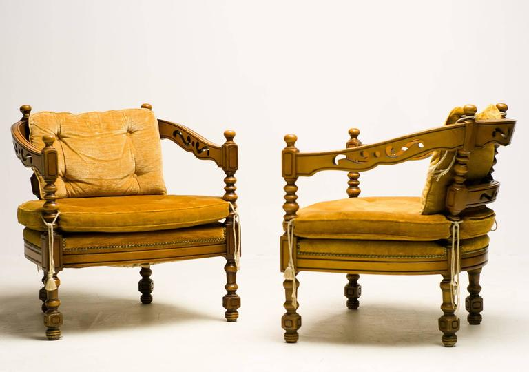 Pair of Giorgetti Armchairs of the 1975 Gallery Collection 3