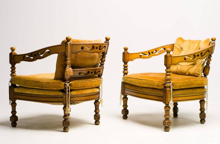 Pair of Giorgetti Armchairs of the 1975 Gallery Collection 5