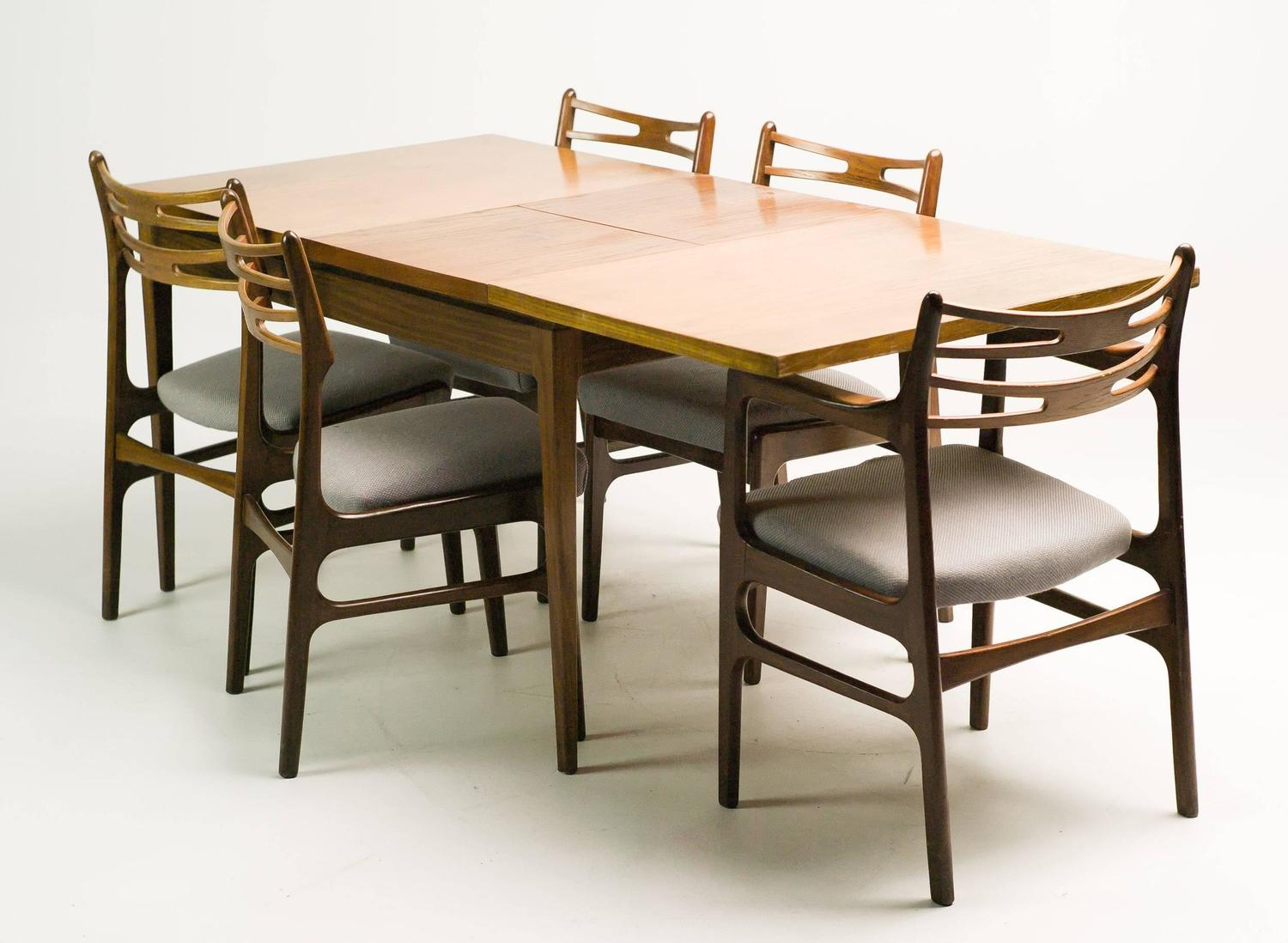 teak 1950s dining room set by johannes andersen denmark