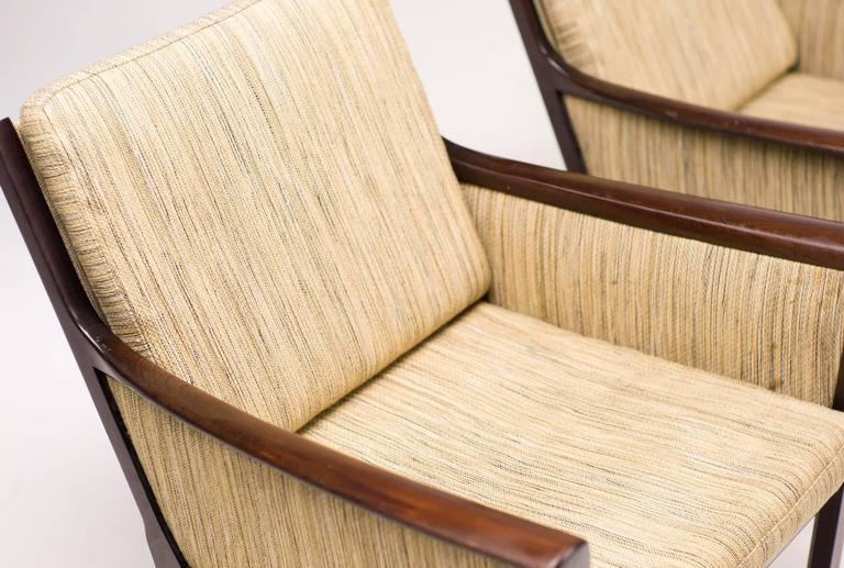 Ole Wanscher Pair of Lounge Chairs in Mahogany For Sale 1