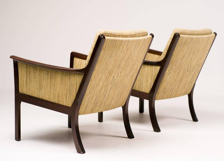Ole Wanscher Pair of Lounge Chairs in Mahogany For Sale 3