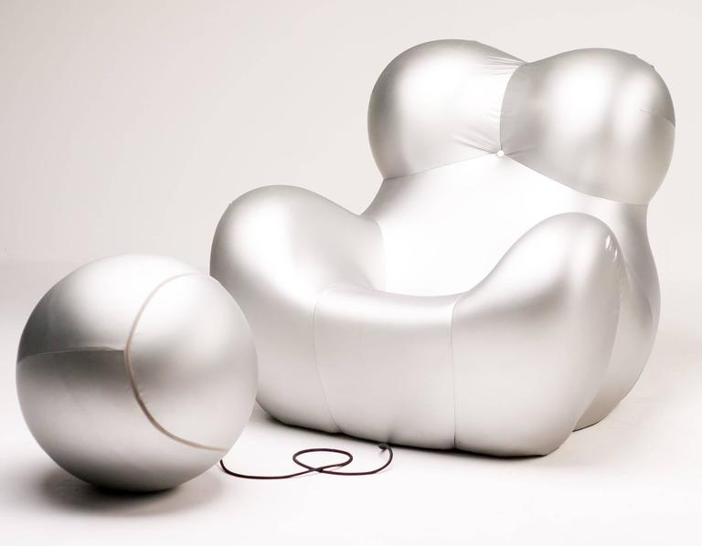 Silver Up Five Armchair and Up Six Ottoman by Gaetano Pesce for B&B Italia 3