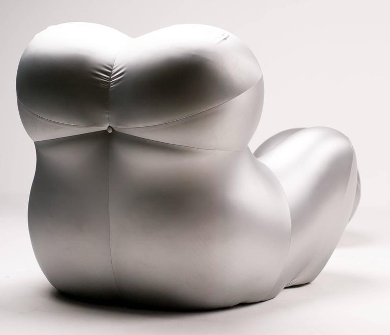 Silver Up Five Armchair and Up Six Ottoman by Gaetano Pesce for B&B Italia 7