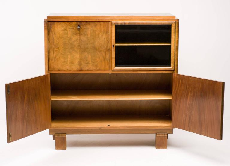 Art deco cabinet in burl wood 1920s 1930s for sale at 1stdibs for 1930s kitchen cabinets for sale