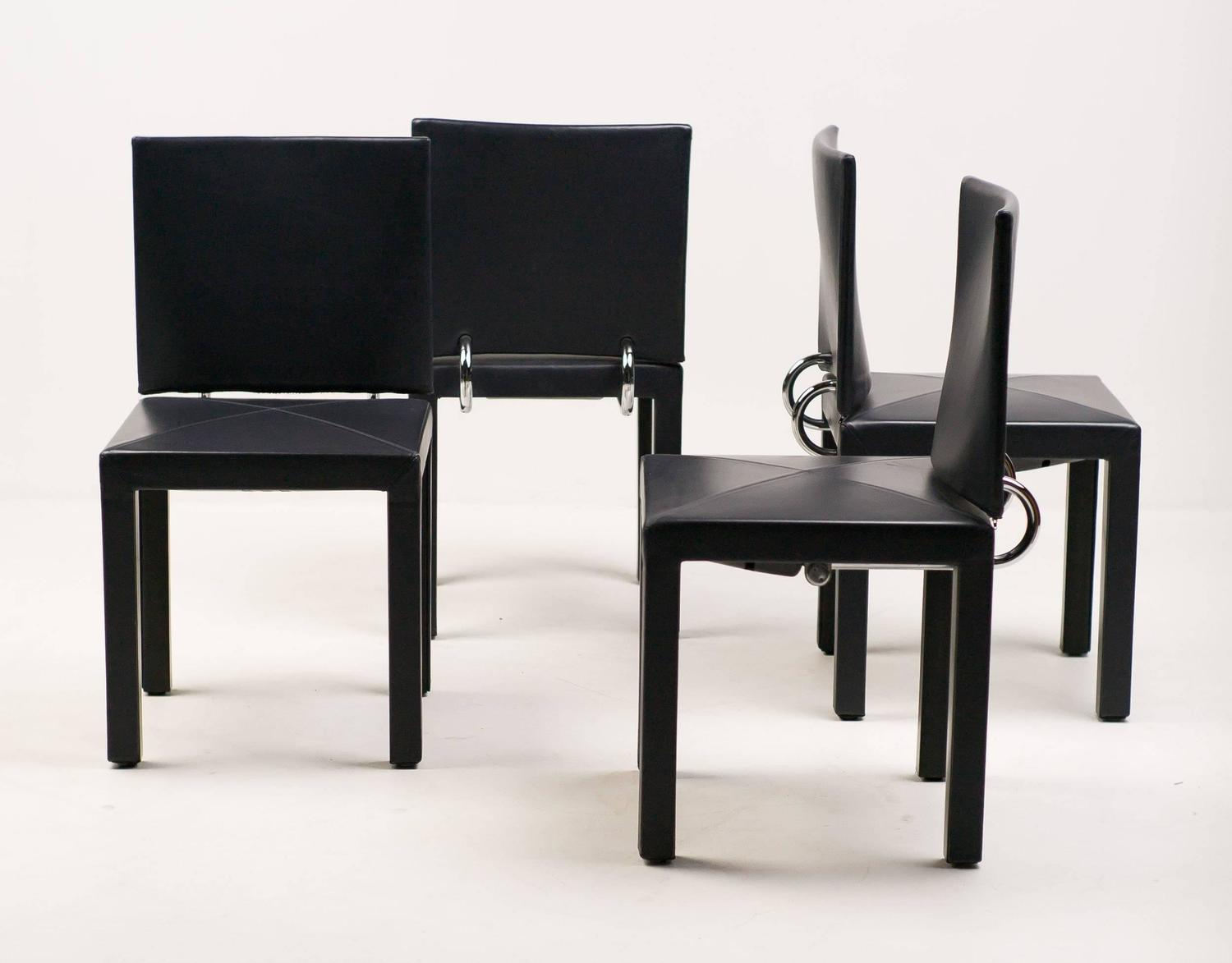 Set of four arcadia chairs by paolo piva for b b italia for B b italia dining room chairs
