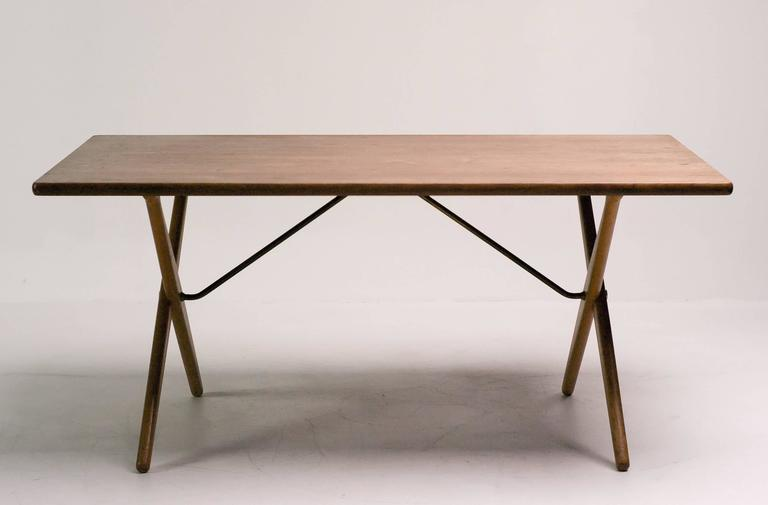 Matching 1950s dining set by hans wegner for sale at 1stdibs for Matching dining room furniture