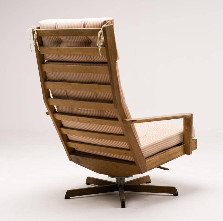 Scandinavian Modern Danish Madsen and Schubel Oak Lounge Chair For Sale