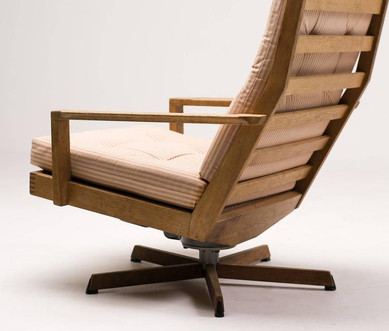 Danish Madsen and Schubel Oak Lounge Chair For Sale 2