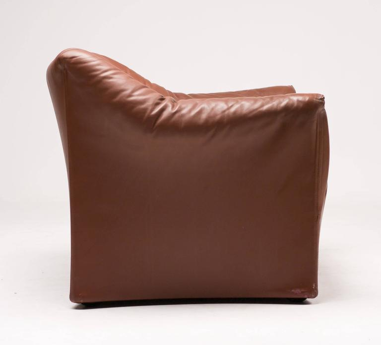 Mario Bellini for Cassina Pair of Leather Lounge Chairs 7