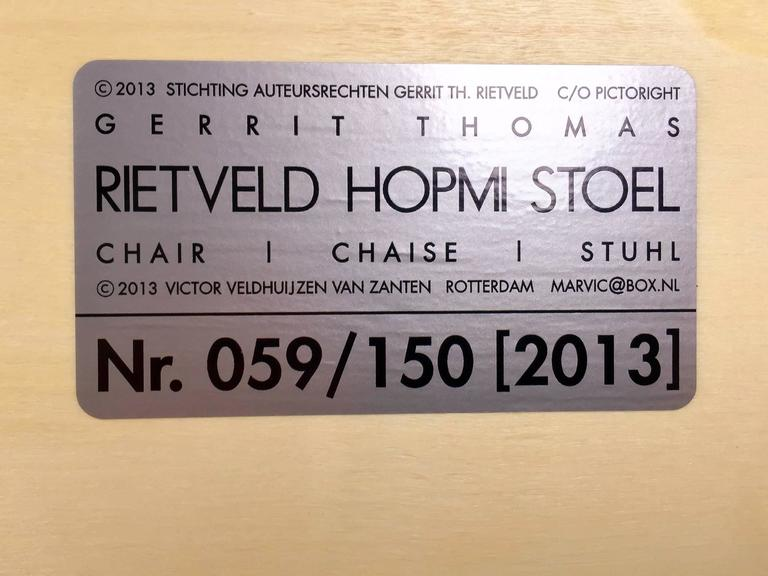 Rietveld Hopmi Chair, Limited Edition from 2013 For Sale 2