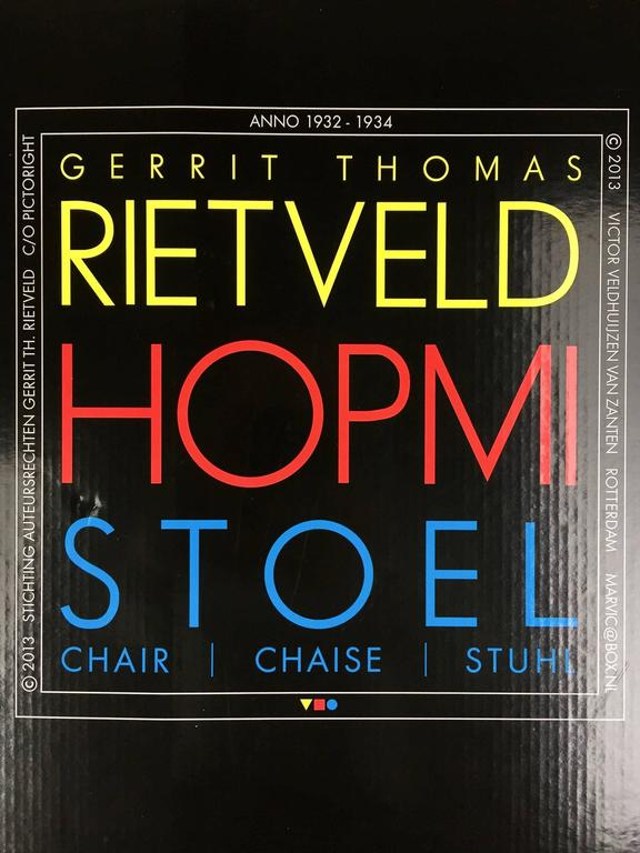 Steel Rietveld Hopmi Chair, Limited Edition from 2013 For Sale