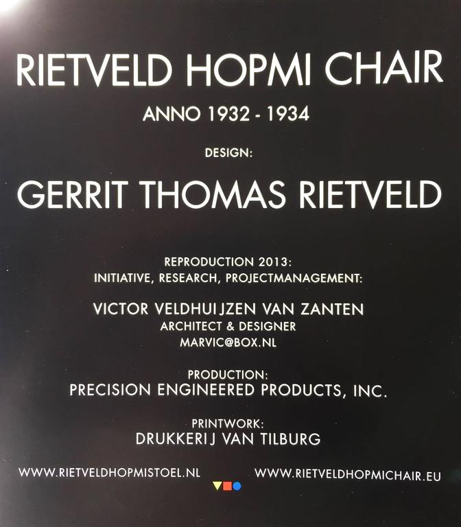 Rietveld Hopmi Chair, Limited Edition from 2013 For Sale 3