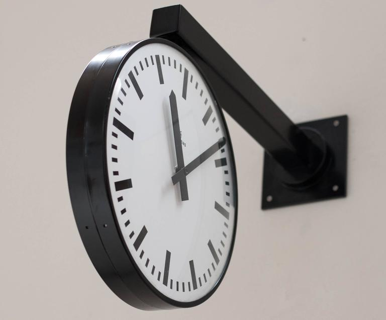 Siemens Double Faced Railway Station Clock At 1stdibs