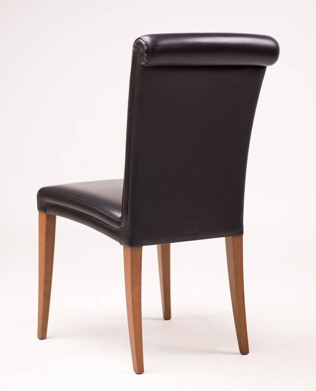 Vittoria Poltrona Frau.Set Of Six Poltrona Frau Vittoria Leather Chairs At 1stdibs
