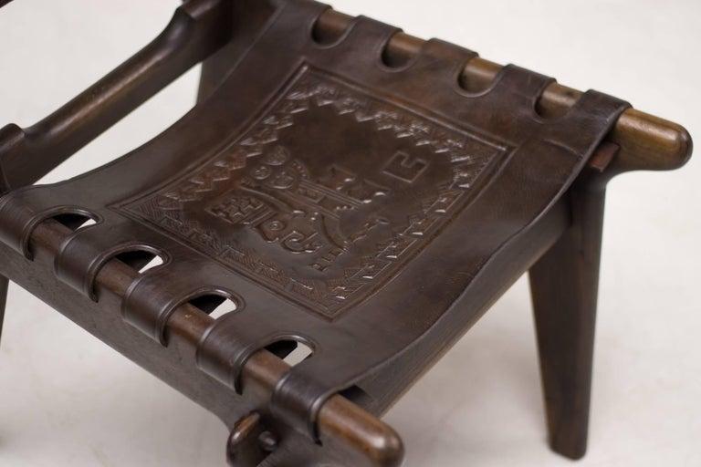 Ecuadorean Set of Four Ecuadorian Dining Chairs by Angel Pazmino for Muebles de Estilo For Sale