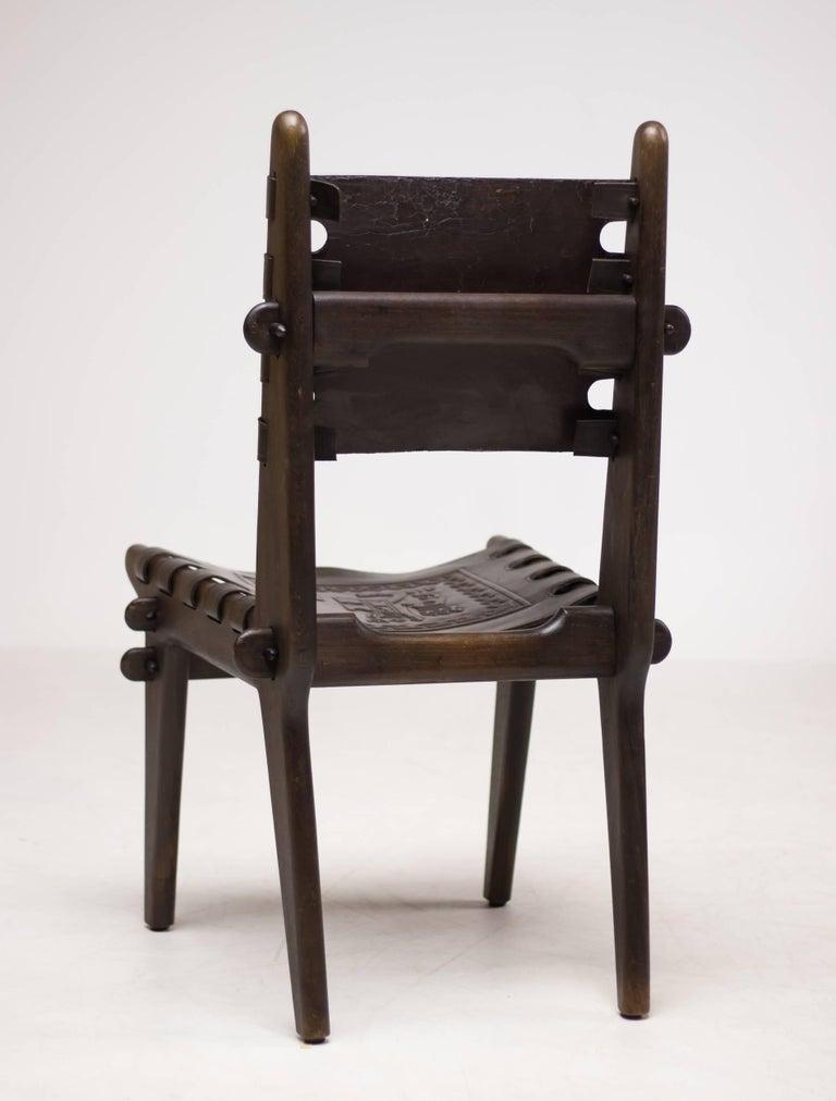 Set of Four Ecuadorian Dining Chairs by Angel Pazmino for Muebles de Estilo 7