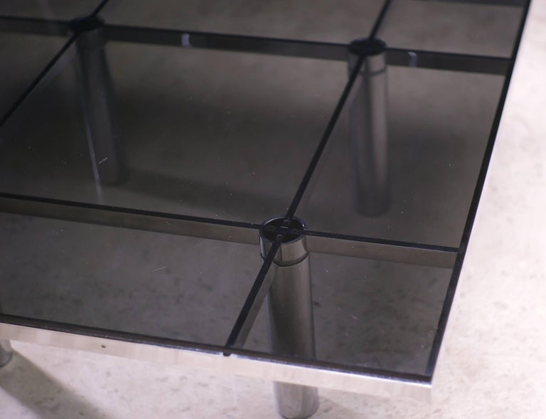 Smoked Glass Andre Coffee Table Designed by Afra and Tobia Scarpa for Knoll International For Sale