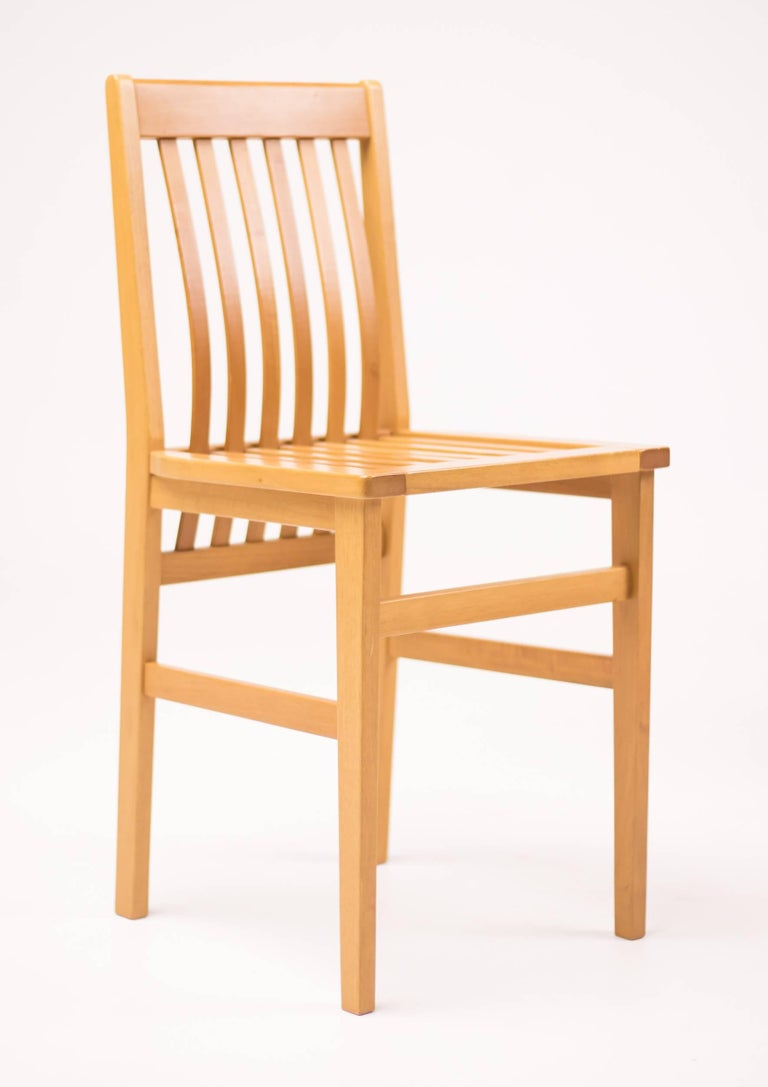 Set of six 'Milano' chairs, design Aldo Rossi 1987, executed by Molteni / Italy. Made in beautiful natural cherry.