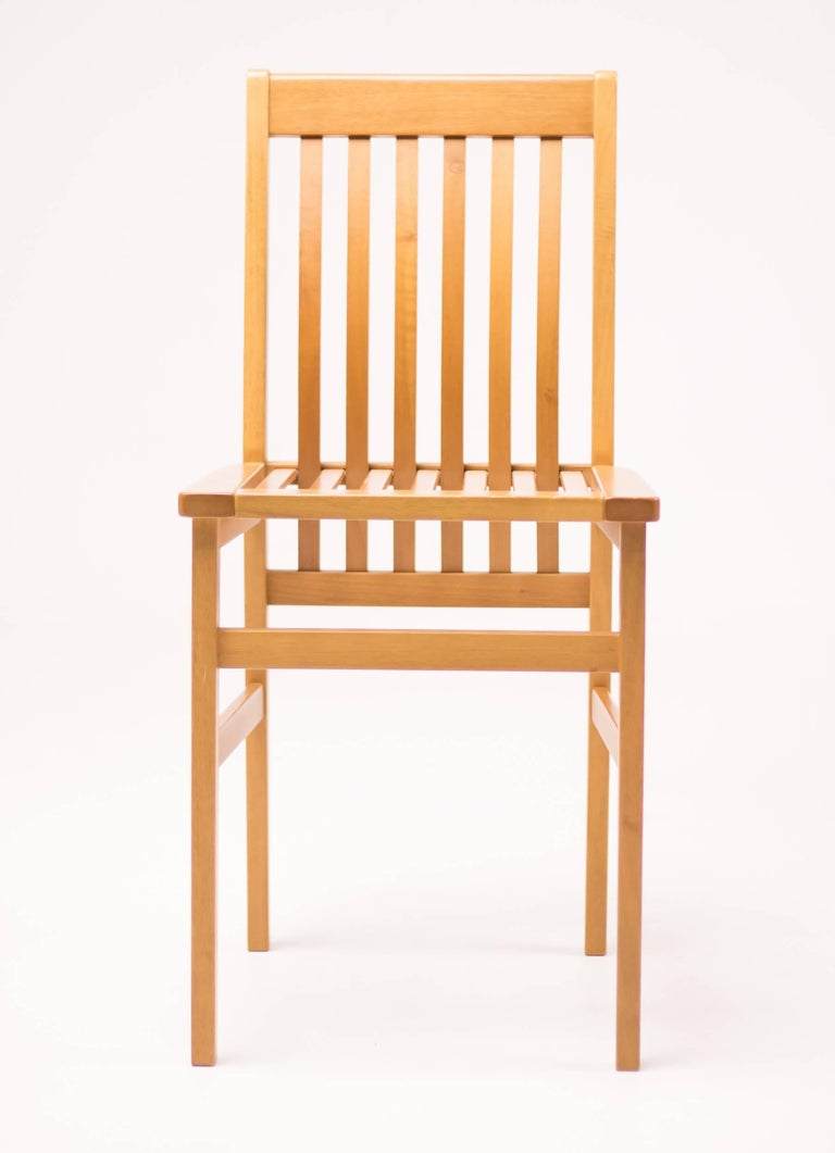Italian Set of Six Milano Chairs by Aldo Rossi for Molteni For Sale