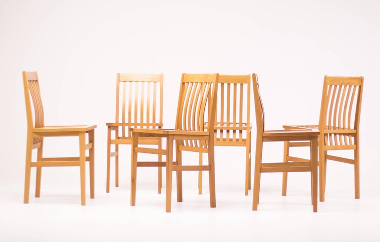 Set of Six Milano Chairs by Aldo Rossi for Molteni For Sale 3
