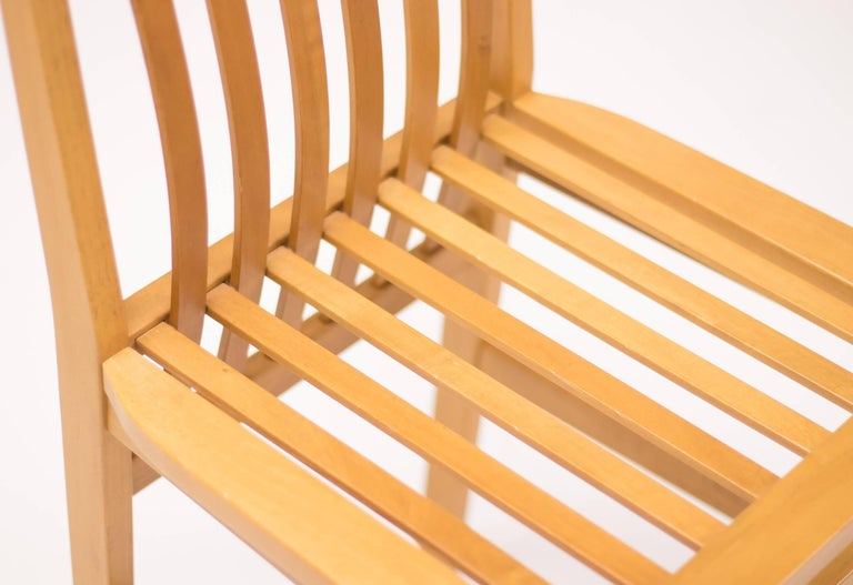 Cherry Set of Six Milano Chairs by Aldo Rossi for Molteni For Sale