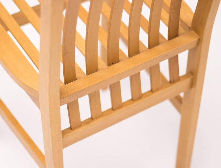 Late 20th Century Set of Six Milano Chairs by Aldo Rossi for Molteni For Sale