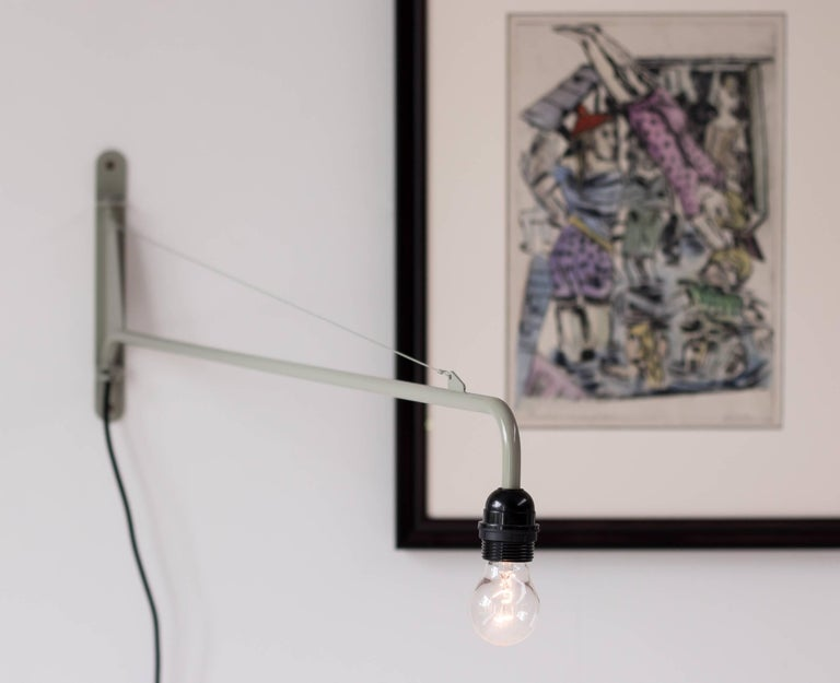 Limited edition Petit Potence lamp, designed by Jean Prouvé. Marked with metal label, made in 2014 for 1 year only.