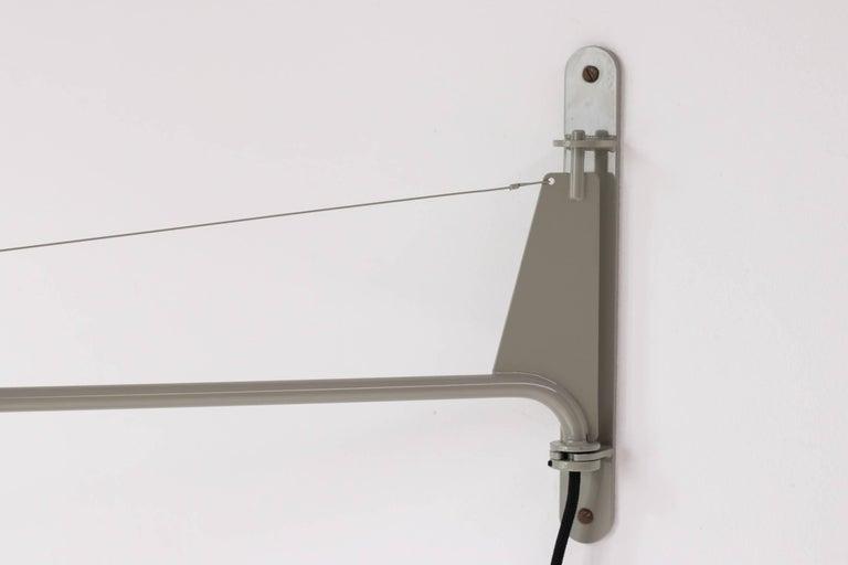 Steel Jean Prouvé Swing Jib Wall Light For Sale