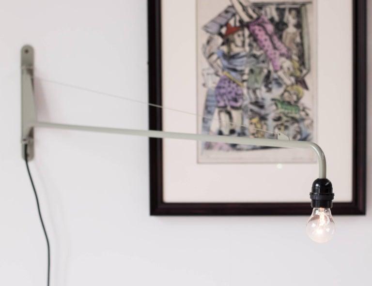 Enameled Jean Prouvé Swing Jib Wall Light For Sale