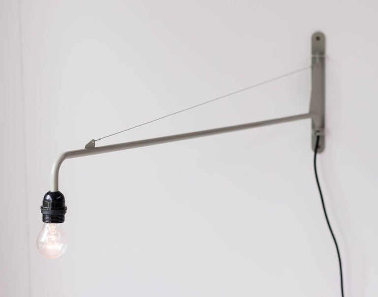 Jean Prouvé Swing Jib Wall Light In Excellent Condition For Sale In Dronten, NL