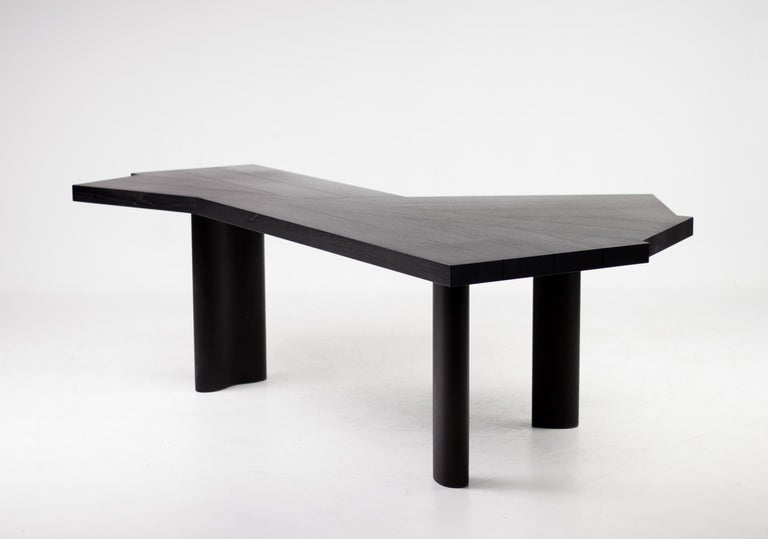 Stained Oak Table by Charlotte Perriand for Cassina For Sale
