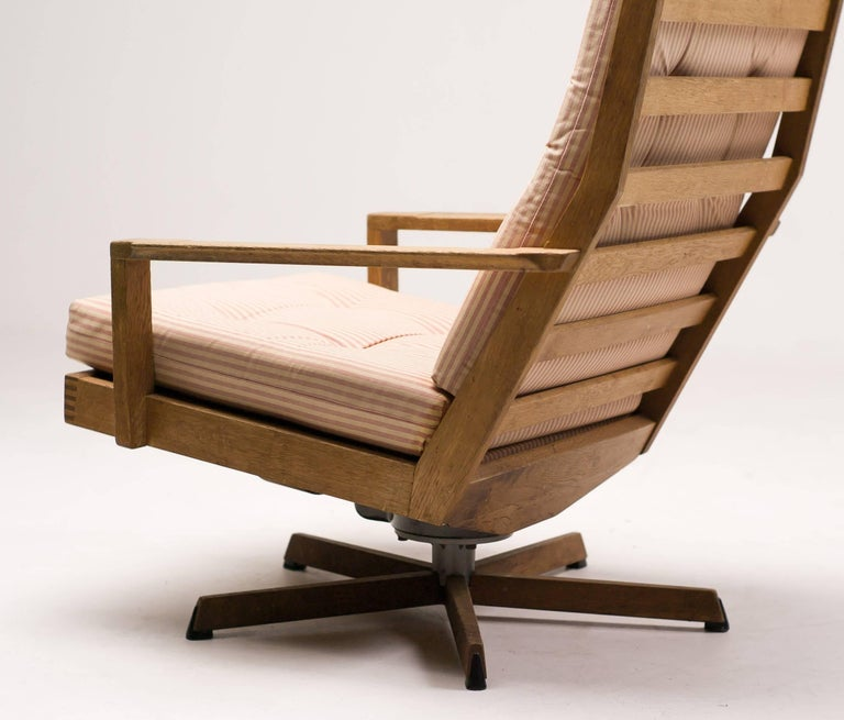 Steel Madsen and Schubel Oak Lounge Chair For Sale