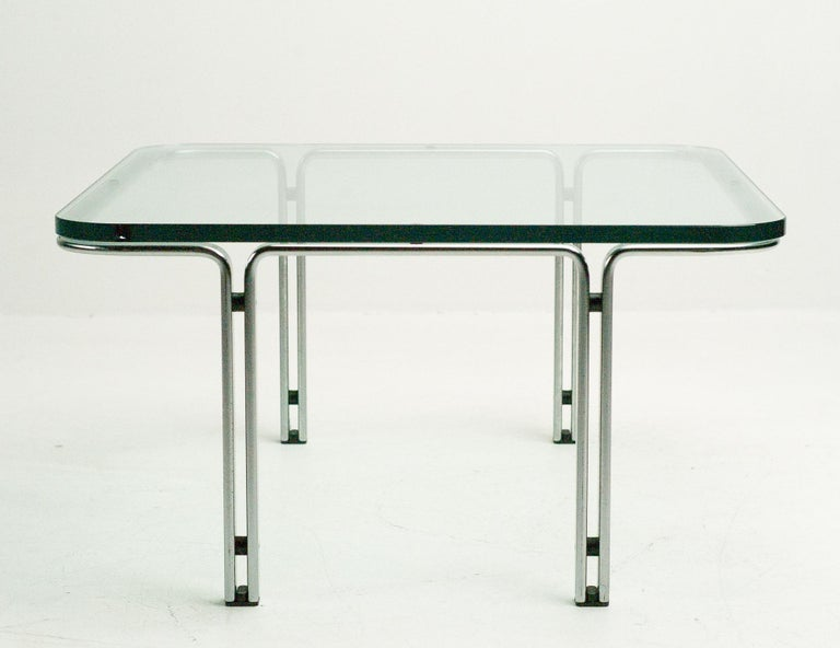 Cocktail table designed by German designer Horst Bruning for Danish manufacturer Alfred Kill, produced, circa 1974.