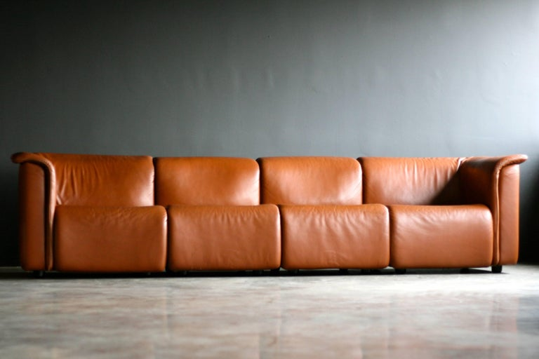 Leather Large Modular Sofa by Wittmann Moebelwerkstaetten For Sale