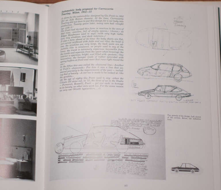 Italian Original Drawing by Gio Ponti for Touring Carrozzeria Milan, 1952 For Sale