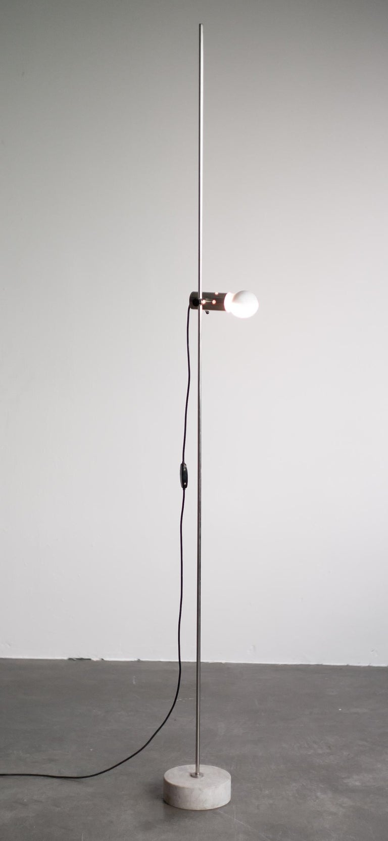 Steel Tito Agnoli Original 1950s Edition 387 Floor Lamp for O-Luce For Sale