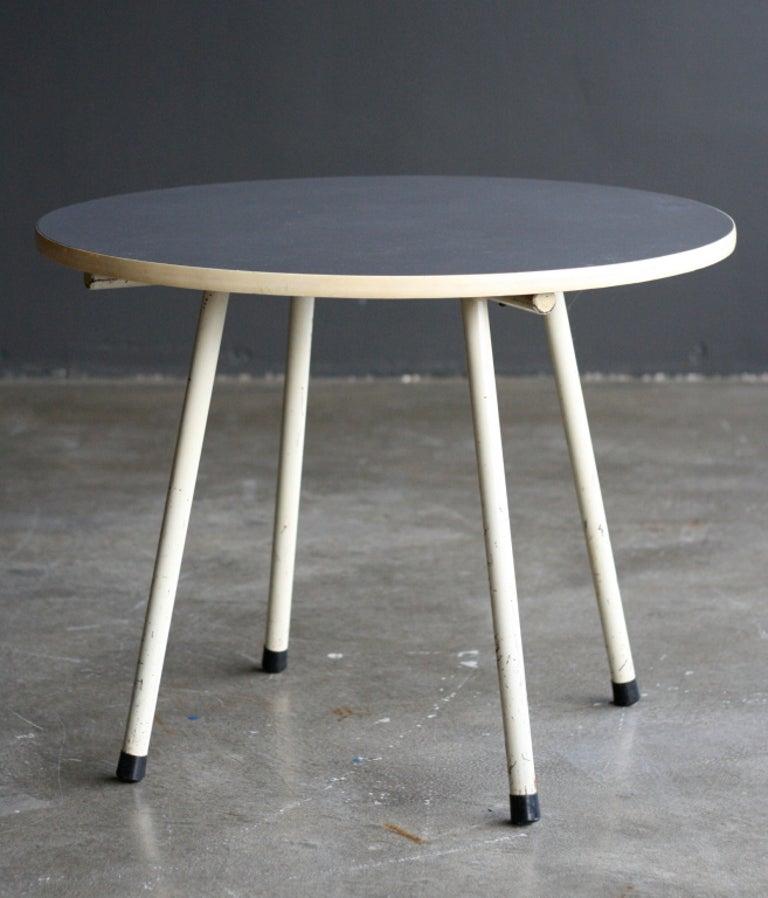 Enameled Gispen Dutch Design Side Table For Sale