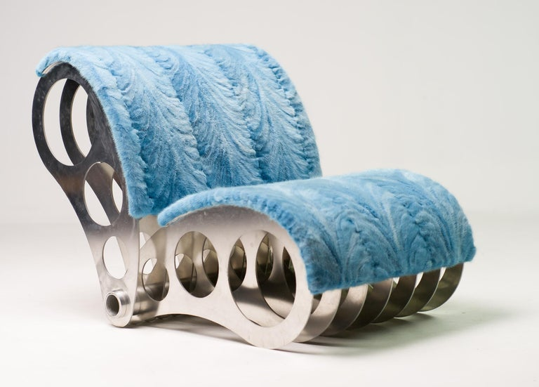 This extravagant one-off chair was designed and made specially for the set of the Danish edition of Big Brother in 2003 by the Danish designer Jesper Kofoed Thomsen.