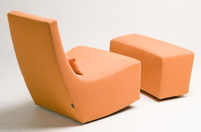 Rocking Lounge Chair and Ottoman by Ligne Roset In Good Condition For Sale In Dronten, NL