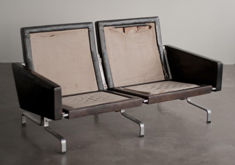Pk31/2 Sofa by Poul Kjaerholm In Fair Condition For Sale In Dronten, NL