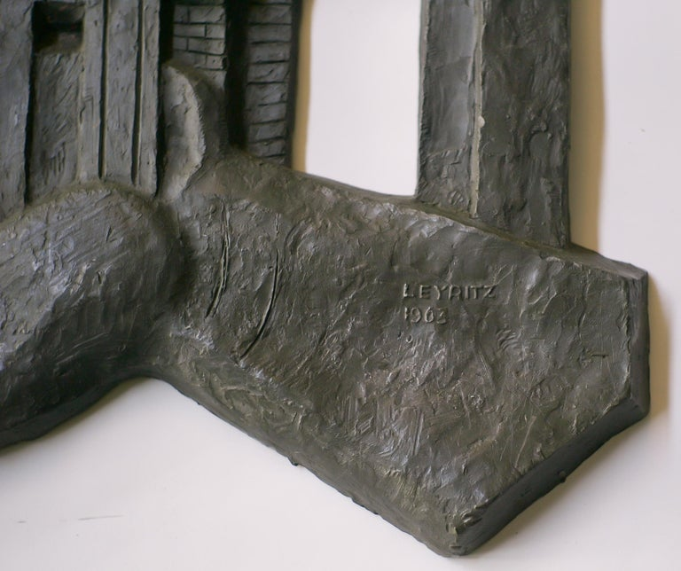 20th Century Architectural Wall Sculpture by Leon Leyritz For Sale