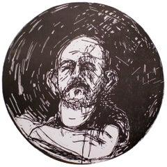 "Jim Dine, Untitled, from ""Self-Portrait in a Convex Mirror"""