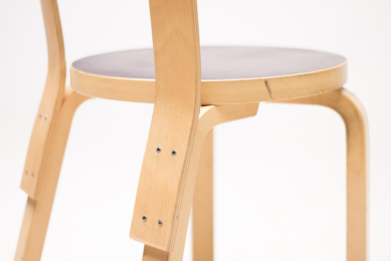 Scandinavian Modern Alvar Aalto Model 66 Chairs For Sale