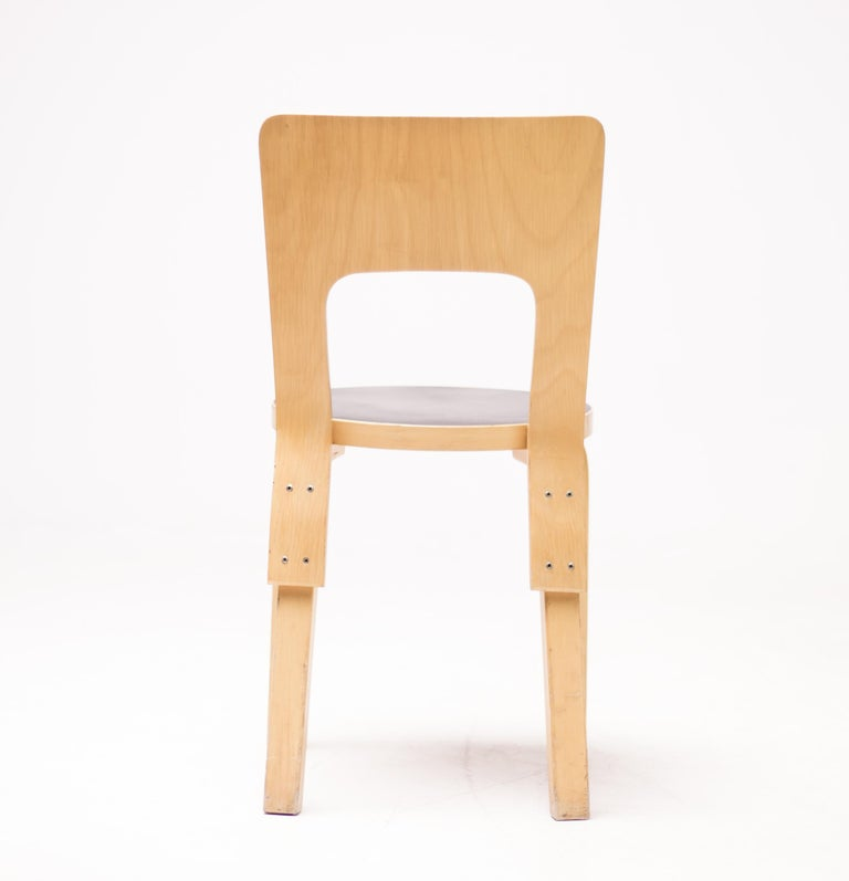 Birch Alvar Aalto Model 66 Chairs For Sale