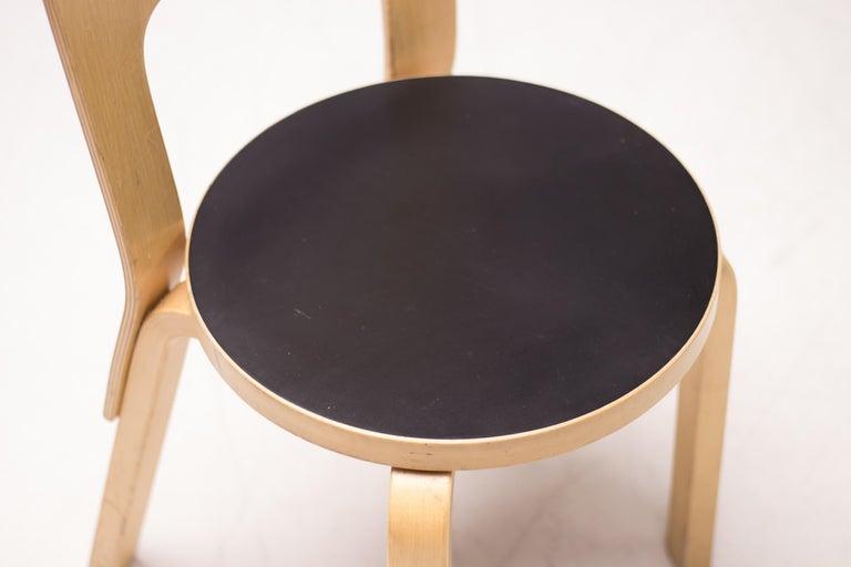 Alvar Aalto Model 66 Chairs For Sale 1