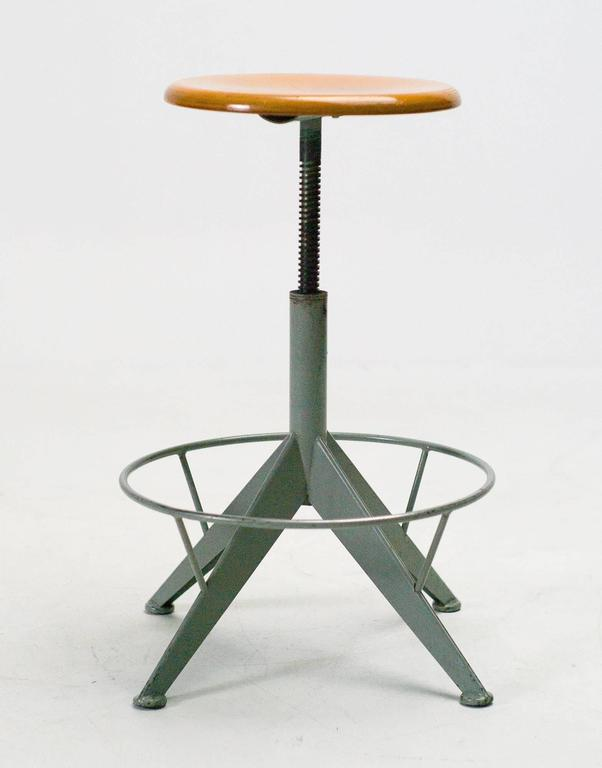 Industrial 1950s French Artist Painters Work Stool 2 : industrial work stool - islam-shia.org