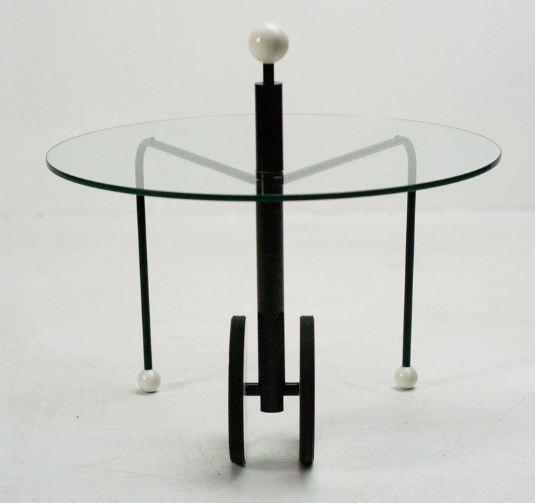Enameled Postmodern Side Table by Michele De Lucchi For Sale